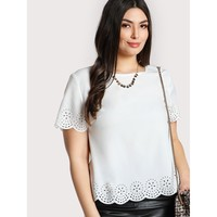 Scalloped Laser Cut Top