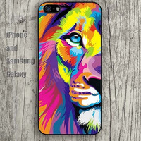 Watercolor lion dream iphone 6 6 plus iPhone 5 5S 5C case Samsung S3, S4,S5 case, Ipod touch Silicone Rubber Case Phone cover Waterproof