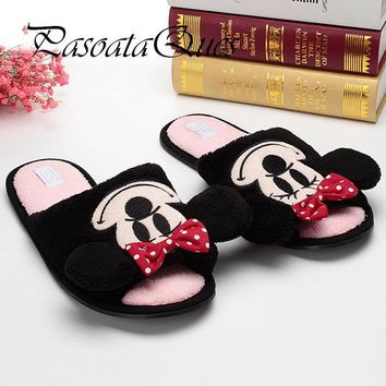 Cute Mouse Monster Cartoon Women/men Couples Home Slippers For Indoor Bedroom House Sh