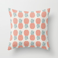 Pineapple  Throw Pillow by Basilique