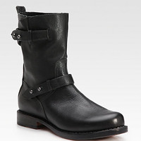 Leather Moto Ankle Boots - Zoom - Saks Fifth Avenue Mobile