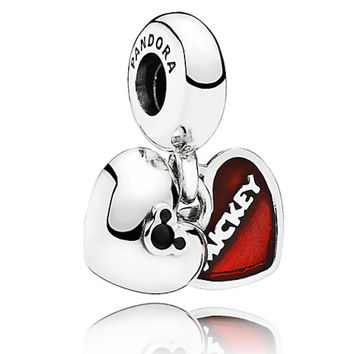 Disney Mickey and Minnie Mouse ''Mickey & Minnie'' Charm by PANDORA New with Pouch