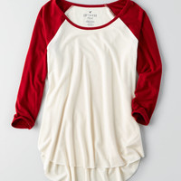 AEO Soft & Sexy Plush T-Shirt , Black Cherry