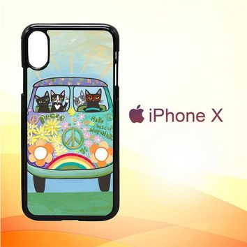 Hippie Cats Road Trip! L2171 iPhone X Case