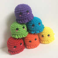 Mini Octopus Plush - Kawaii Amigurumi Octopi Plushies - Cute Crochet Octopus Stuffed Animal - Cute Crochet Toy