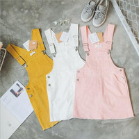 Women'S Leisure Pocket Denim Strap Dress