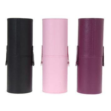 PU Leather Empty Make up Brush Container Bag Holder