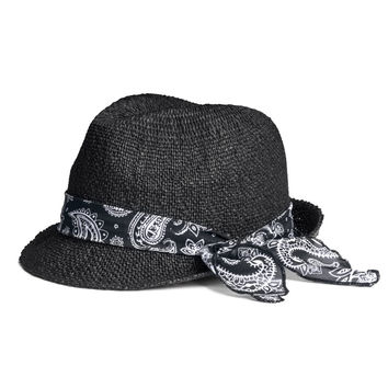 H&M - Straw Hat - Black - Ladies