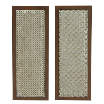 "Attractive Wood Metal Wall Decor 2 Assorted 12""W, 31""H"
