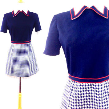 Vintage 60s LESLIE FAY Mod Scooter Dress