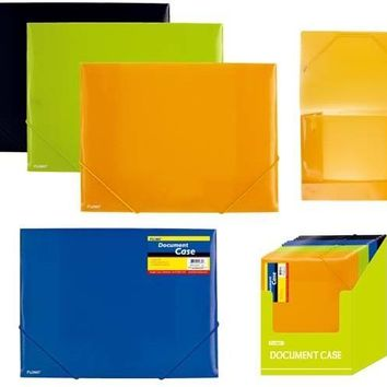 Poly Document Case with Matching Color Elastic Closure - CASE OF 48