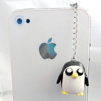 Gunter Adventure Time Phone Charm, Dust Plug or Cell Phone Strap, For iPhone or iPod, or Keychain, Cute, Kawaii :D