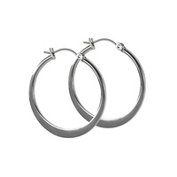 Jody Coyote Small Hoop Earrings in Silver Tone Stainless Steel from the Luna Collection