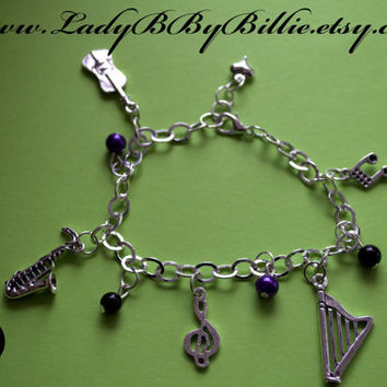Music Medley Handmade Charm Bracelet/Arm Candy By Lady B By Billie
