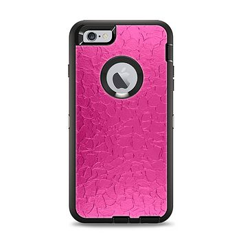 The Stamped Pink Texture Apple iPhone 6 Plus Otterbox Defender Case Skin Set