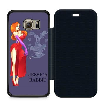 Jessica Rabbit Cartoon Leather Wallet Flip Case Samsung Galaxy S6 Edge