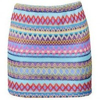 Azteca Embroidered Skirt - Bottoms