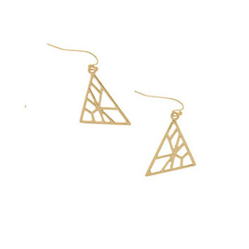 Divergent Triangle Earrings