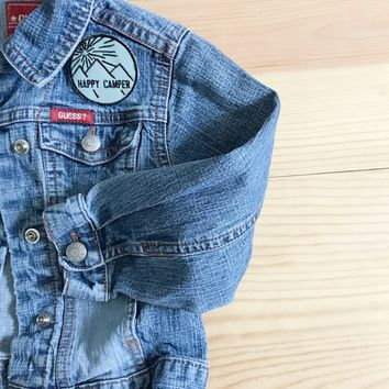 Happy Camper Vintage Denim Jacket - 3T