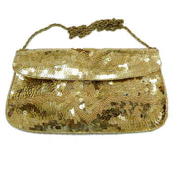 Large Sequin Gold Clutch