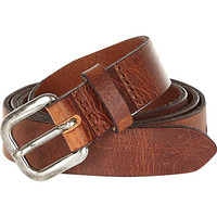 River Island MensBrown Italian leather belt