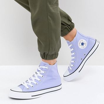 Converse Chuck Taylor All Star Hi Trainers In Lilac at asos.com