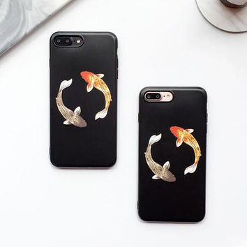 Fish Case for iPhone 7 7Plus & iPhone se 5s 6 6 Plus Best Protection Cover +Free Gift Box A74