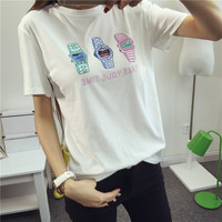 Watch pattern color T-shirt