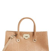 Jimmy Choo 'Riley' Genuine Python Tote | Nordstrom