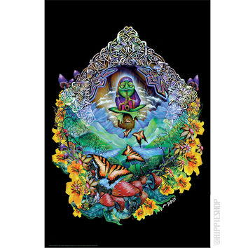 Musical Frog Black Light Poster
