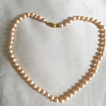 Vintage Pearl Necklace by Monet Vintage Jewelry Faux Pearls