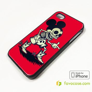 MICKEY MOUSE ZOMBIE iPhone 4/4S 5/5S/SE 5C 6/6S 7 8 Plus X Case Cover