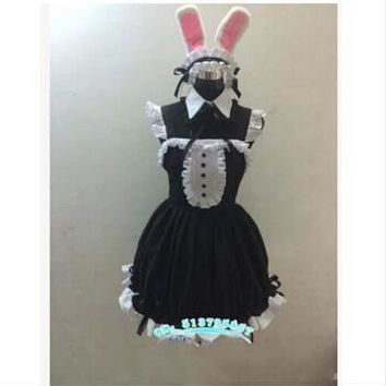 Japanese Anime Super Sonico Clothing costume cat lolita dress rabbit maid ver Bunny Girl set