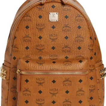 MCM Medium Stark Side Stud Coated Canvas Backpack | Nordstrom