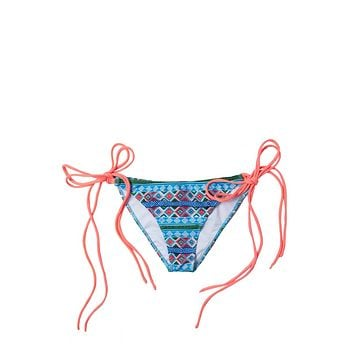 Mancora Tie Side Moderate Bikini Bottom - Melon