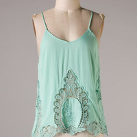 Attention Getter Tank - Mint - Hazel & Olive