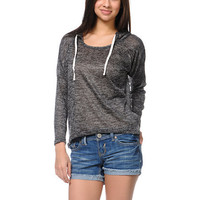 Empyre Girls Hacci Black Knit Pullover Hoodie