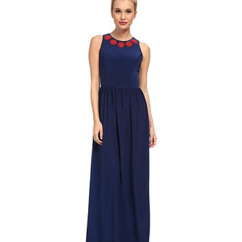 Shoshanna Alexia Gown Navy w/ Ruby Embroidery - Zappos.com Free Shipping BOTH Ways