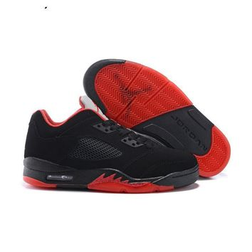 48299cb2842 Air Jordan 5 Retro Low Alternate 90 Black Gym Red-Metallic Hemat