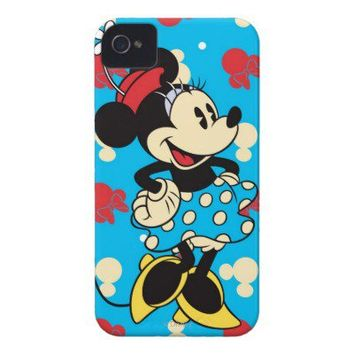 Vintage Minnie Mouse iPhone 4 Case-Mate Case from Zazzle.com