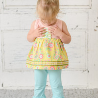 Ruffle Pants Solid Mint Blue