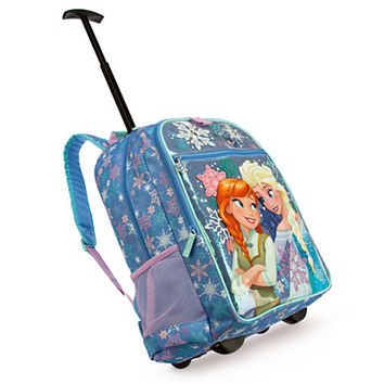 Anna and Elsa Rolling Backpack - Personalizable