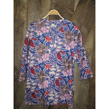 Cotton Tunic Top of Red White and Blue