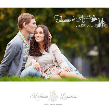 Save the date wedding announcement e-card | wedding invitation e-card design: wedding logo, wedding monogram, or wedding crest e-card