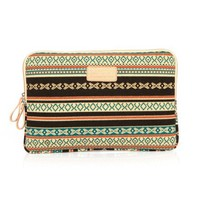 "ZLYC Bohemian Canvas Laptop Sleeve for iPad/MacBook Air (15.6"")"