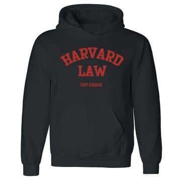 "Zexpa Apparelâ""¢ Harward Law Just Kiddin Unisex Hoodie Funny Collage Party Hooded Sweatshirt"