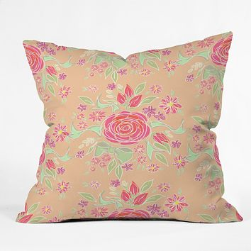Lisa Argyropoulos Sweet Rose Delight Throw Pillow