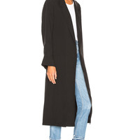 Smythe Bathrobe Trench Coat in Black Fade | FWRD