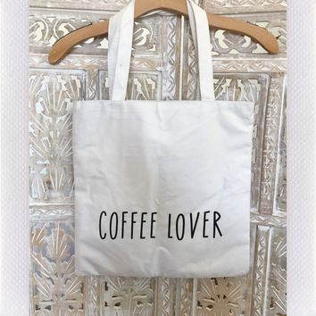 COFFEE LOVER TOTE- BEIGE