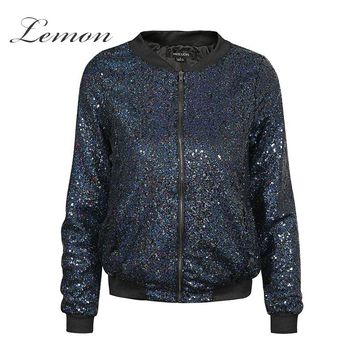 *Online Exclusive* Sequin Bomber Jacket